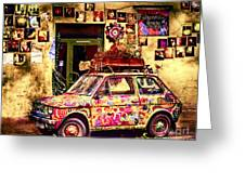 Color On The Road In Krakow- Poland Greeting Card