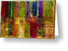 Color Panel Abstract Greeting Card by Michelle Calkins