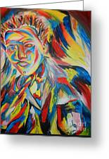 Color Portrait Greeting Card by Juan Molina
