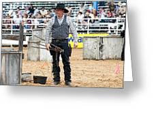 Color Rodeo Shootout Gunslinger Greeting Card