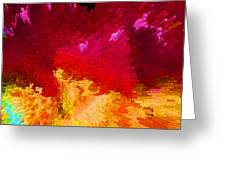 Color Shock 4 - Vibrant Digital Painting Greeting Card by Sharon Cummings