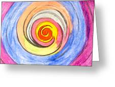 Color Spiral 5-25-2014 Greeting Card