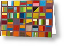 Color Study Collage 65 Greeting Card