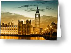 Color Study London Houses Of Parliament Greeting Card by Melanie Viola
