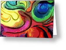 Color Swirl Greeting Card