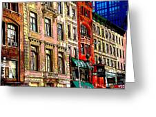 Color The City New York Greeting Card by Thomas Fouch
