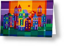 Color Town Greeting Card