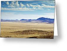 Color View Of West Texas Greeting Card