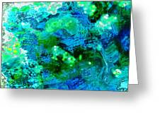 Color Wash Abstract In Blue Greeting Card