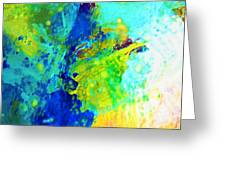 Color Wash Abstract Greeting Card