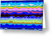 Color Waves No. 4 Greeting Card