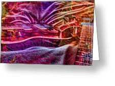Color Wheel Digital Guitar Art By Steven Langston Greeting Card