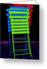 Colorful Cafe Chairs Greeting Card