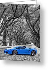 Color Your World - Lamborghini Gallardo Greeting Card by Steve Harrington