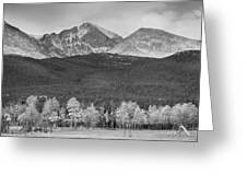 Colorado America's Playground In Black And White Greeting Card