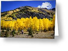 Colorado Autumn Hike Greeting Card