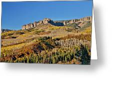 Colorado, Autumn, Just East Of Ridgway Greeting Card