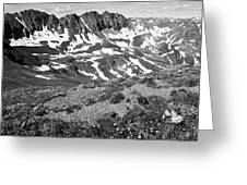 Colorado Black And White Greeting Card