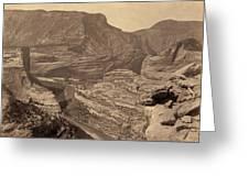 Colorado Canyons, 1872 Greeting Card