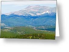 Colorado Continental Divide Panorama Hdr Crop Greeting Card