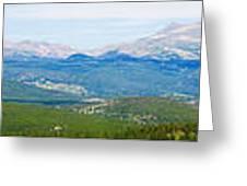 Colorado Continental Divide Panorama Hdr Greeting Card