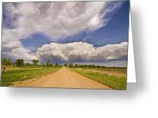Colorado Country Road Stormin Skies Greeting Card