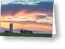 Colorado Farmers Sunset Greeting Card