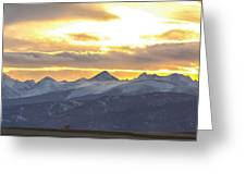 Colorado Front Range Panorama Gold Greeting Card