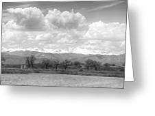 Colorado Front Range Rocky Mountains Panorama Bw Greeting Card