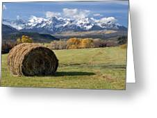 Colorado Haybale Greeting Card