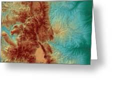 Colorado Map Art Greeting Card