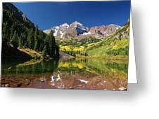 Colorado Maroon Bells Greeting Card by Michael J Bauer