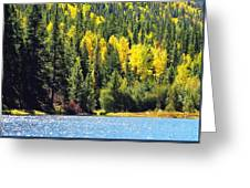 Colorado Mountain Lake In Fall Greeting Card