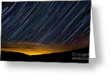 Colorado Mountain Startrails Greeting Card by Benjamin Reed