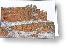 Colorado Red Sandstone Country Dusted With Snow Greeting Card