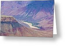 Colorado River At Cape Royal On North Rim Of Grand Canyon-arizona Greeting Card