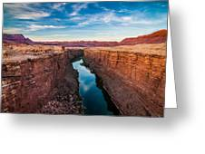 Colorado River At Marble Canyon Greeting Card