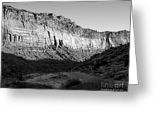 Colorado River Cliff Bw Greeting Card
