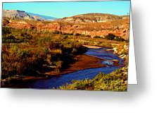 Colorado River Greeting Card by Eva Kato
