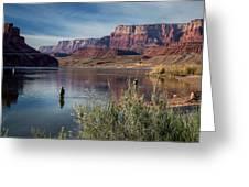 Colorado River Fisherman Greeting Card