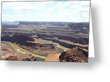 Colorado River From Dead Horse Point  Greeting Card