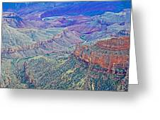 Colorado River From Walhalla Overlook On North Rim Of Grand Canyon-arizona Greeting Card