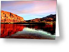 Colorado River Lees Ferry Painting Greeting Card