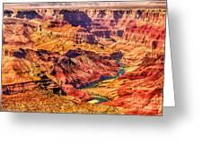Colorado River 1 Mi Below 100 Miles To Vermillion Cliffs Utah Greeting Card