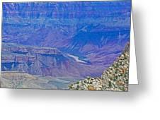 Colorado River Two At Cape Royal On North Rim Of Grand Canyon-arizona Greeting Card