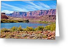 Colorado River Upstream From Boat Ramp At Lee's Ferry In Glen Canyon National Recreation Area-az Greeting Card