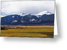 Colorado Rockies Panorama Greeting Card