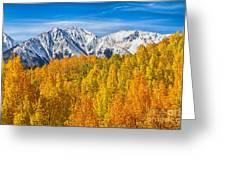 Colorado Rocky Mountain Autumn Beauty Greeting Card