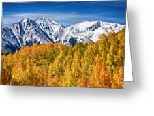 Colorado Rocky Mountain Autumn Magic Greeting Card