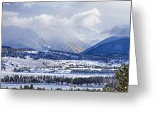 Colorado Rocky Mountain Autumn Storm Greeting Card